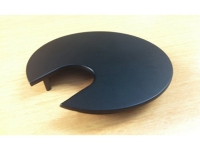 Round black metal desk grommet