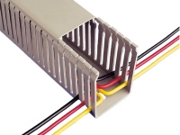 Grey PVC narrow slot wire duct