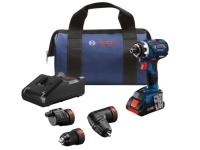 BOSCH Flexiclick 5-In-1 Drill/Driver System with (1) CORE18V 4.0 Ah Compact Battery - Brushless Connected-Ready - 18V