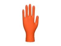 PORTWEST HD Disposable Gloves - 100pcs - M - Orange