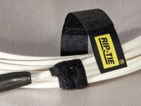 Rip-Tie Velcro heavy duty cable wrap, black color