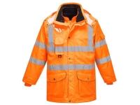 PORTWEST Hi-Vis 7-in-1 Traffic Jacket - M - Orange
