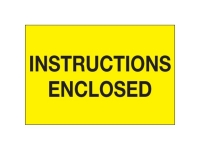 Instructions Enclosed Yellow