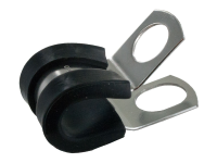 Rubber insulated zinc plated cable clamps with 1