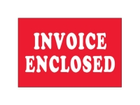 Invoice Enclosed White Text