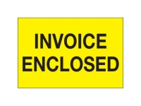 Invoice Enclosed Yellow