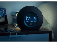 Black JBL horizon hotel alaram clock charging usb, ta-horizon-bk