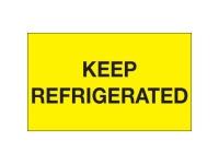 Keep Refrigerated Yellow