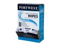 PORTWEST Anti-fog Visor & Lens Cleaning Wipes - 100pc