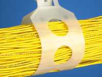 Standard UV rated loop cable hanger application example