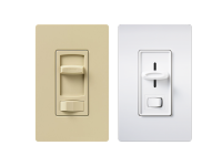 Ivory and white skylark 3-speed fan control and light switch single pole