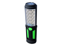 Pivoting LED flashlight/worklight with rechargeable battery