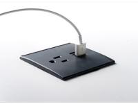 Recessed power desk grommet
