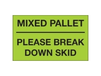 Mixed Pallet Break Down Skid Green
