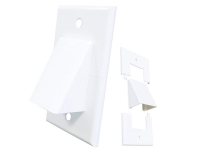 White cable vent wall plate, ml1gcv-wh