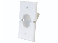 White split-port recessed wall plate, ml1gsr-wh