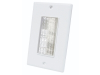 White decor style brush wall plate, mldbp-wh