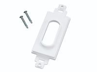 White decor style single wireport, mldc1-wh