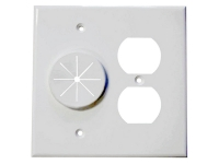 White duplex receptacle and wireport, mldr2g-gr10-wh