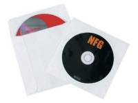 Tyvek Moisture-Resistant windowed CD/DVD Sleeves - 4 7/8