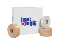 Tape Logicᅠ7200 General Reinforced Water Activated Tape - 72mm x 375' - Kraft - 8 Rolls/Case