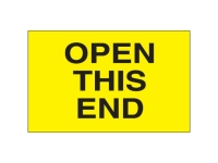 Open This End Yellow