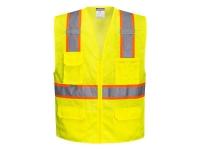 PORTWEST Orlando Hi-Vis Contrast Mesh Safety Vest - M - Yellow