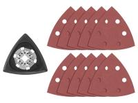 BOSCH Starlock Oscillating Multi-Tool Delta Sanding Pads - 11 pc Kit