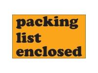 Packing List Enclosed Orange