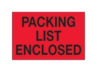 Packing List Enclosed Red