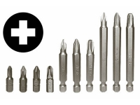 Phillips screwdriver bit set various sizes
