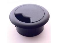 Black plastic desk grommet