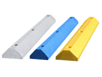 Plastic parking stops - 3 colors