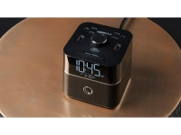 Portable power, bluetooth alarm clock on desk