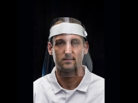 portwest cv15 anti fog headband visor apet