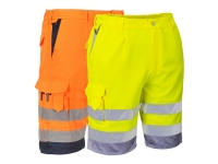 portwest e043group hi vis reflective polycotton shorts
