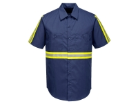 portwest f124 iona hi vis short sleeve shirt