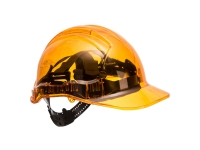 Portwest Hard Hat Translucent Peak View Vented Pv54 Orange