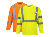 portwest s191group hi vis long sleeve pocket t shirt
