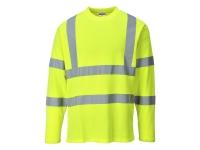 portwest s278yl hi vis long sleeve cotton t shirt