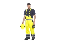 portwest s489yl gallery1 hi vis bib overall pants lined
