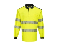 portwest t184 polo shirt long sleeve hi vis