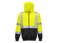 portwest ub315 hi vis two tone zipped hoodie