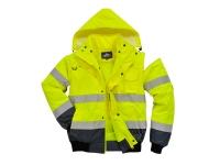 portwest uc465yln hi vis bomber jacket