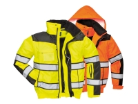 portwest uc466yl group hi vis classic bomber jacket