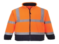 uf301 portwest two tone fleece hi vis reflective safety jacket in orange color