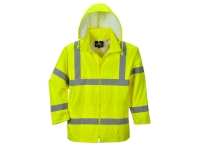 portwest uh440yl hi vis rain jacket