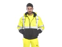 portwest us364 gallery4 hi vis 2 in 1 bomber jacket lined