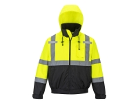 us364 portwest hi vis 2 in 1 bomber jacket lined in yellow colour