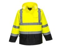 portwest us366 hi vis rain jacket contrast polyester
